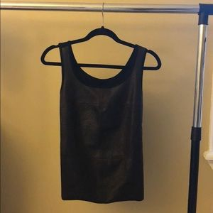 Olivaceous Faux Croc pattern stretch tank